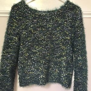 Sweaters - Green nubbly sweater xs